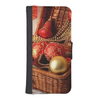 Christmas box - Christmas decorations iPhone SE/5/5s Wallet Case