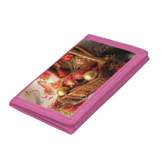 Christmas box - Christmas decorations Tri-fold Wallet