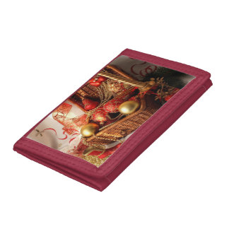Christmas box - Christmas decorations Trifold Wallet