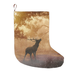 'CHRISTMAS BOX' MAGICAL DEER LARGE CHRISTMAS STOCKING