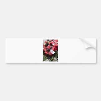 Christmas box merry Christmas letters Bumper Sticker