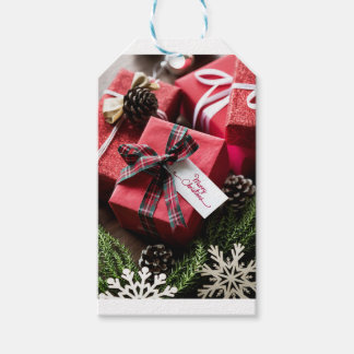 Christmas box merry Christmas letters Gift Tags
