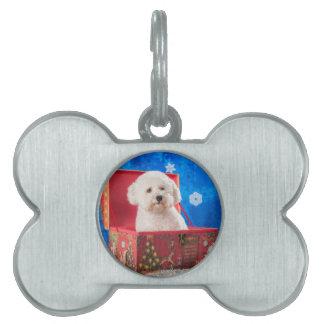 Christmas box pet name tag