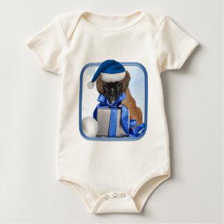 Christmas boxer dog Baby bodysuit