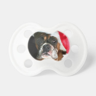 Christmas Boxer Dog Pacifiers