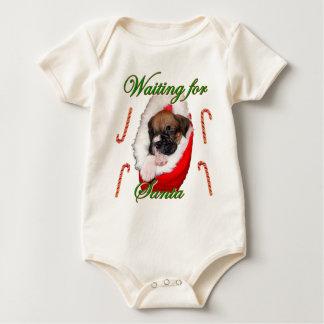 Christmas boxer puppy baby baby bodysuit