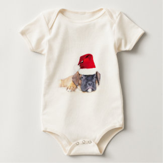 Christmas boxer puppy baby shirt