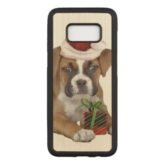 Christmas Boxer puppy Maple Samsung Galaxy S8 Case