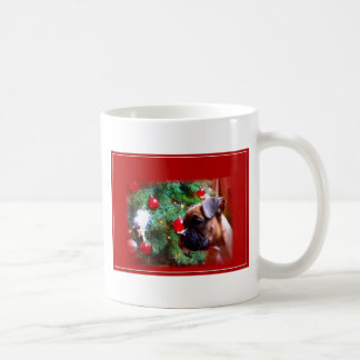 Christmas boxer puppy mug