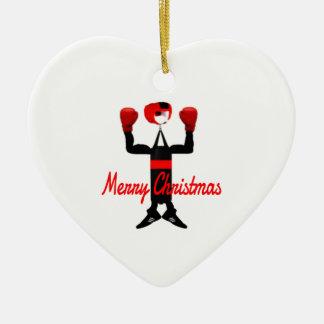 Christmas Boxing Cartoon Ceramic Ornament
