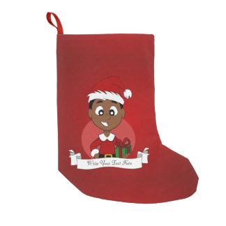 Christmas boy cartoon small christmas stocking