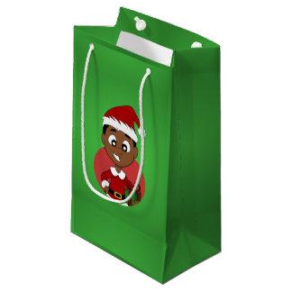 Christmas boy cartoon small gift bag