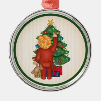 Christmas Boy & Tree Christmas Ornament