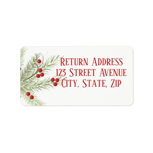 Christmas Branch Holiday Mailing Label