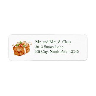 Christmas Bread Return Address Label