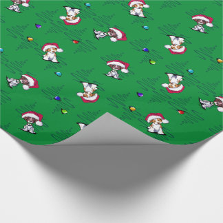 Christmas Brittanies Wrapping Paper
