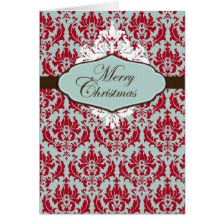 Christmas Brocade Retro Card