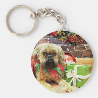Christmas - Brussels Griffon - Oliver Keychain