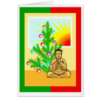 Christmas Buddha w/ Tree Card