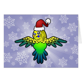 Christmas Budgie Card