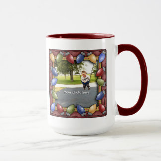 Christmas Bulbs Photo Mug
