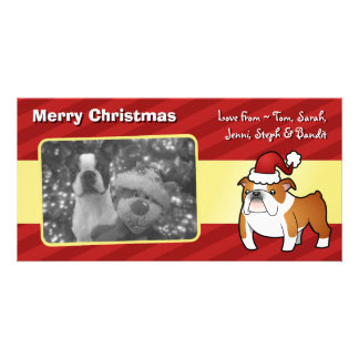Christmas Bulldog Custom Photo Card