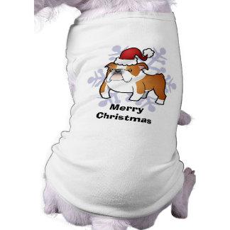 Christmas Bulldog Dog Tee Shirt