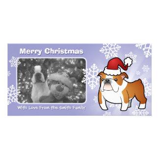 Christmas Bulldog Photo Card