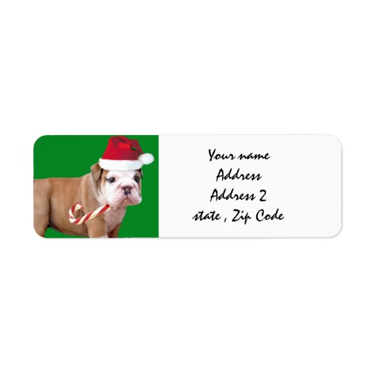 Christmas Bulldog shipping labels