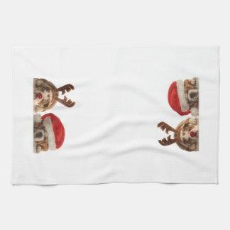 Christmas Bulldogs Kitchen Towel