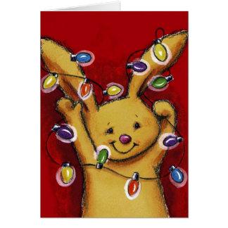 Christmas bunny card