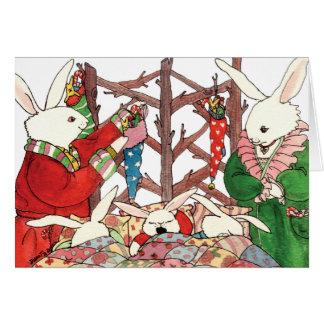 Christmas Bunny Family Card