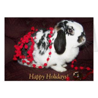 Christmas Bunny, Happy Holidays! Greeting Card