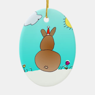 Christmas Bunny Ornament