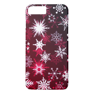 Christmas burgundy gradient snowflakes Case-Mate iPhone case