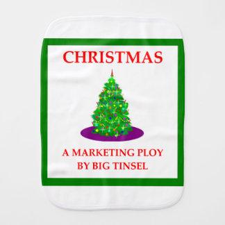 CHRISTMAS BURP CLOTH