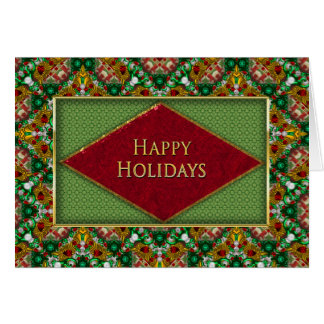 CHRISTMAS - BUSINESS - HAPPY HOLIDAYS -FAUX JEWELS CARD