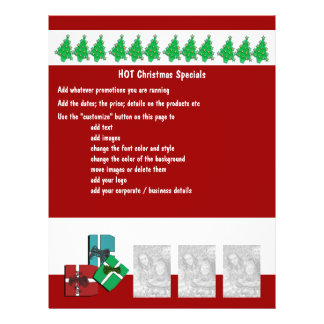 Christmas business promotional marketing leaflets flyer