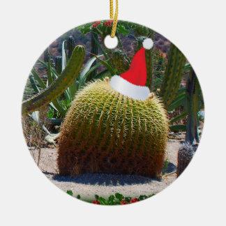 Christmas Cactus Ceramic Ornament