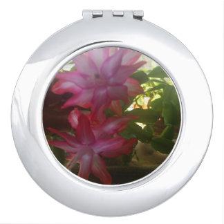 christmas cactus compact mirror