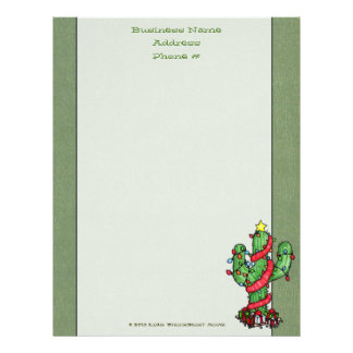 Christmas Cactus Letterhead