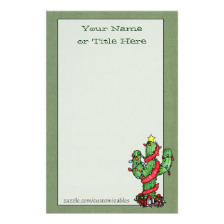 Christmas Cactus Stationery