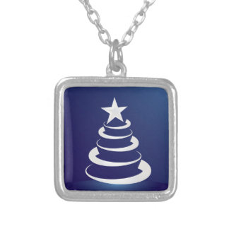 Christmas cake silver plated necklace