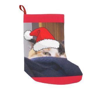 Christmas Calico Cat Small Christmas Stocking