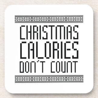 Christmas Calories Beverage Coasters