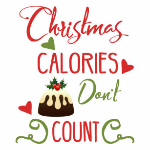 Christmas Calories Dont Count Funny Holiday Quote Tote Bag