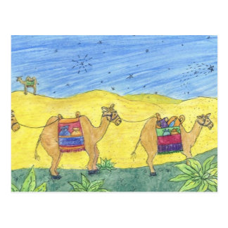 CHRISTmas Camels Postcard
