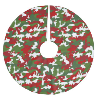 Christmas Camo Xmas Tree Skirt Camouflage Military