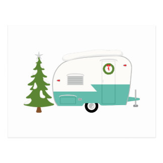 Christmas Camper Postcard