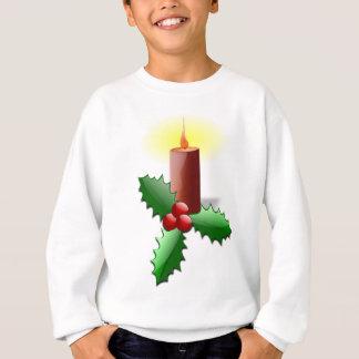 Christmas candle and berries sweatshirt